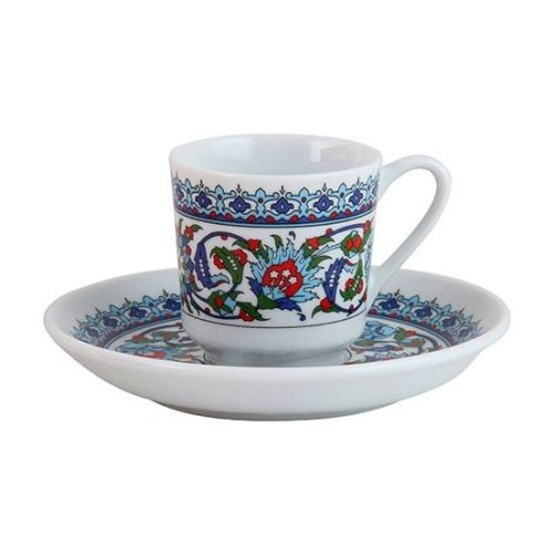 Turkish Coffee Cup Kütahya Porcelain Topkapı Palace Design