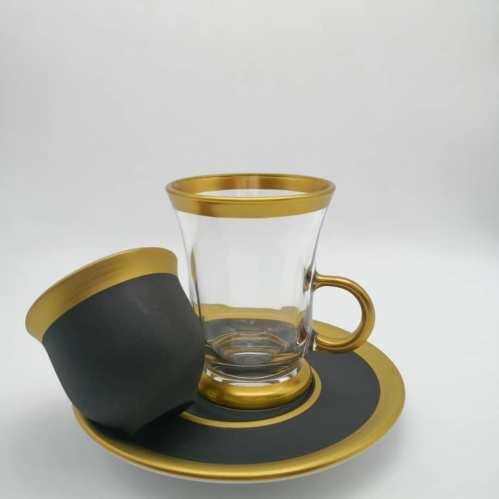 Pasabahce 18 Pcs Black Color Tea Set