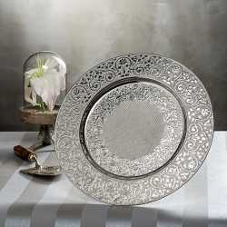 Silver Color Authentic Round Plate Coaster