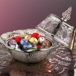 Silver Color Ottoman Style Delight Bowl