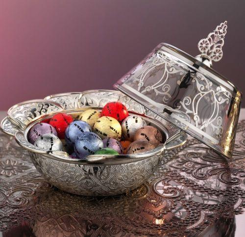 Silver Color Ottoman Style Delight Bowl