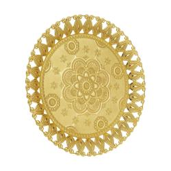 Flower Pattern Authentic Gold Serving Tray