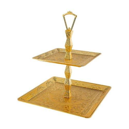 Two Tier Gold Fruit - Cookie Serving Tray