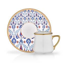 12 Pcs Cevher Luxury Porcelain Turkish Coffee Set