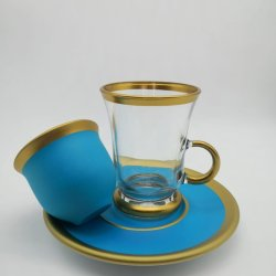 Pasabahce 18 Pcs Light Blue Color Tea Set