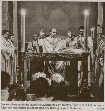 P. Parsch celebrando una misa moderna