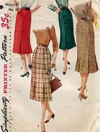 patrón de falda vintage