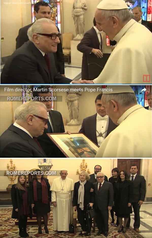 Papa recibe Scorsese 1