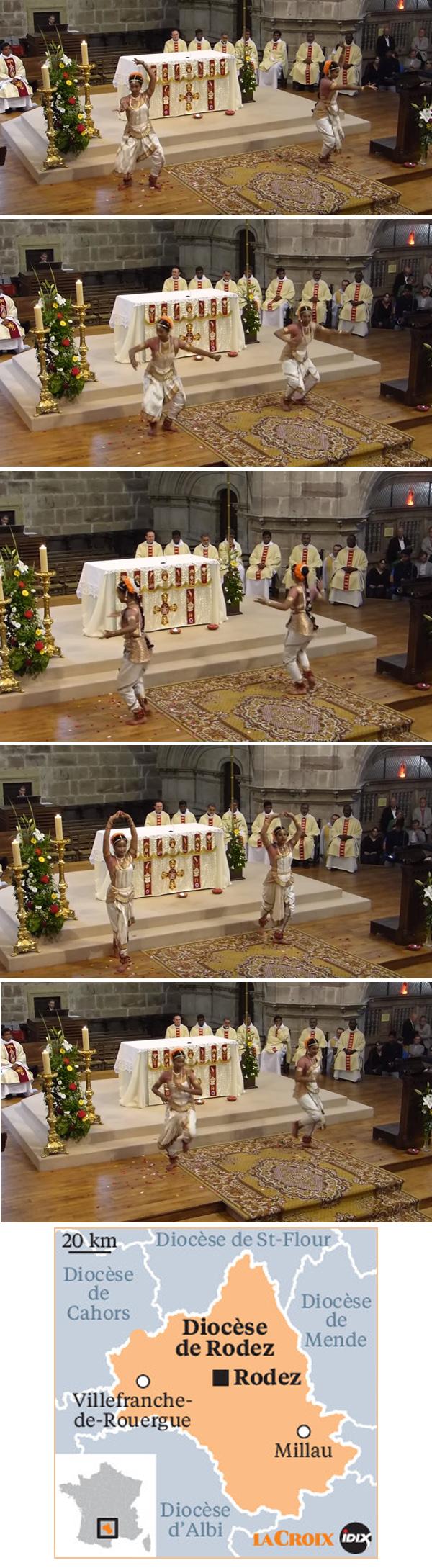 danses hindoues à la cathédrale de Rodez
