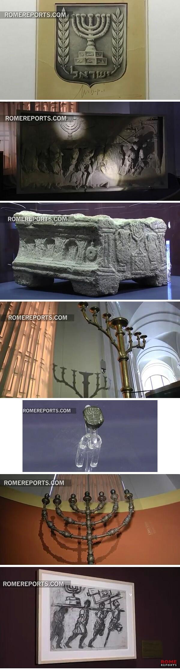 Exposición de Menorah en el Vaticano 02