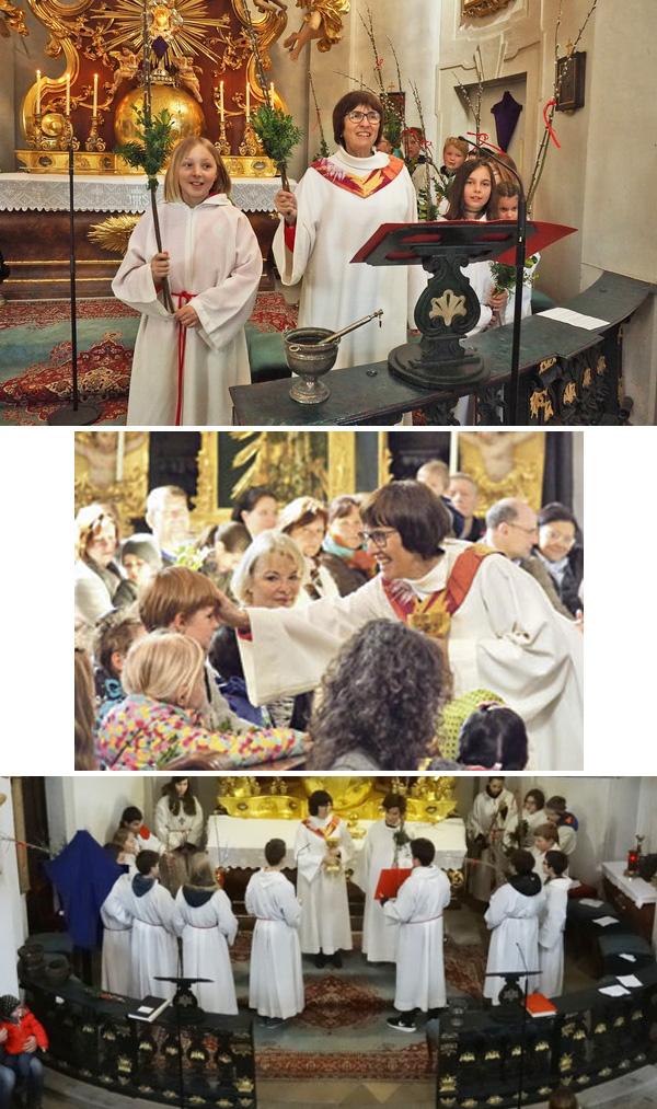 El montaje fotográfico de Sissy Kamptner realiza los deberes de un sacerdote