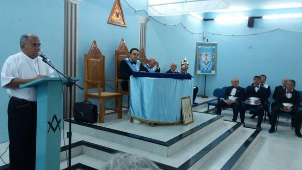 Discurso del obispo brasileño en Masonic Lodge 1