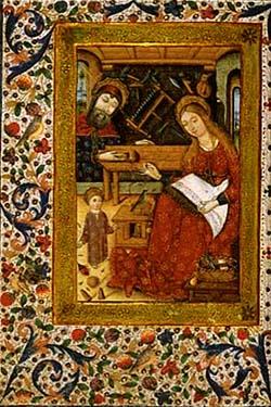 La Sagrada Familia en la Casa de Nazaret