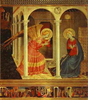 """""""Anunciación"""" de Fra Angelico"""