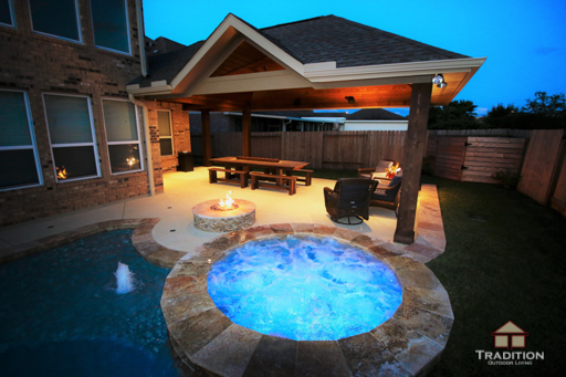 richmond custom pool and fire pit