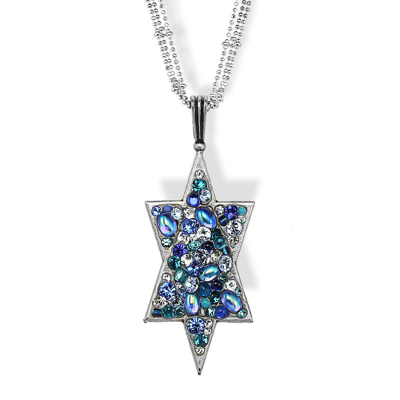 Jewish Jewelry Judaica Fancy Large Star Of David Pendant
