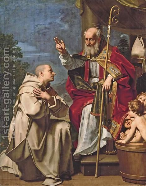 Saint-Nicholas-With-The-Three-School-Children-And-A-Carthusian-Monk