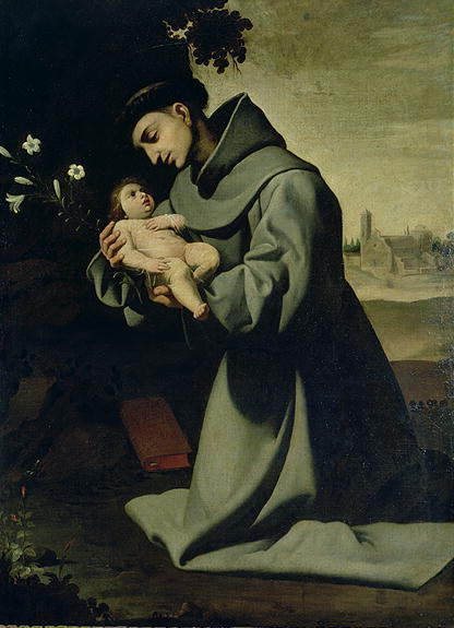 St-Anthony-of-Padua-Francisco-de-Zurbaran-oil-painting-1
