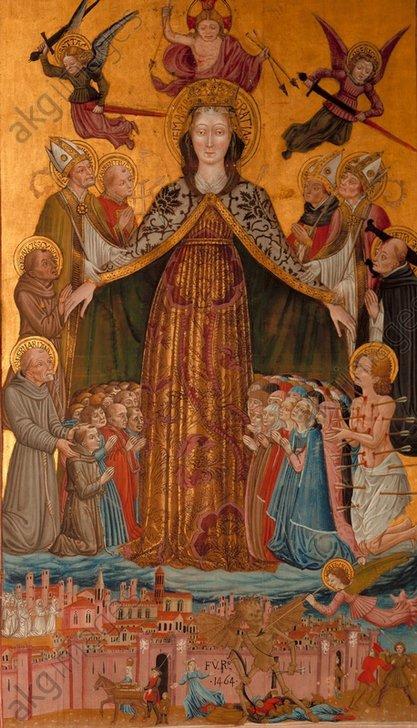 B.Bonfigli u.a., Schutzmantelmadonna - Madonna of Protecting Cloak / Bonfigli -