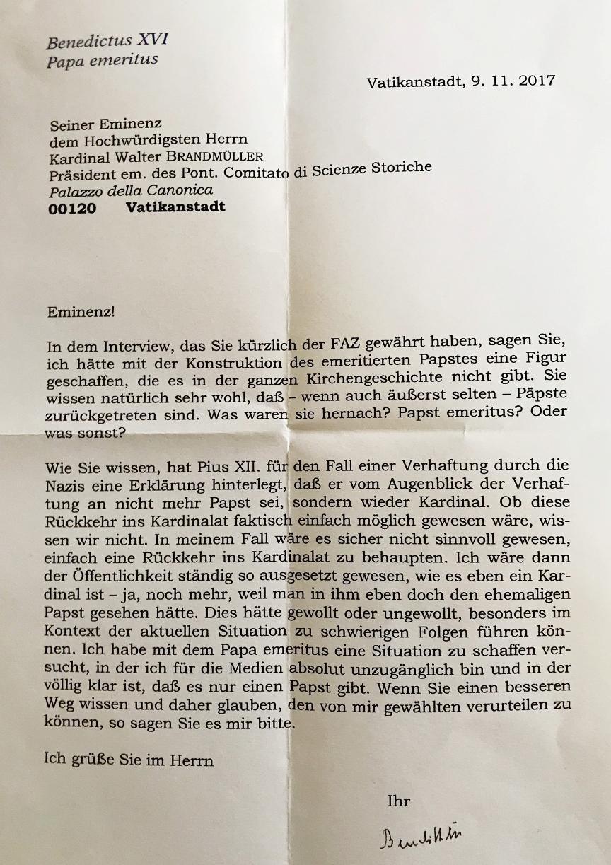 Benedikt XVI Brief