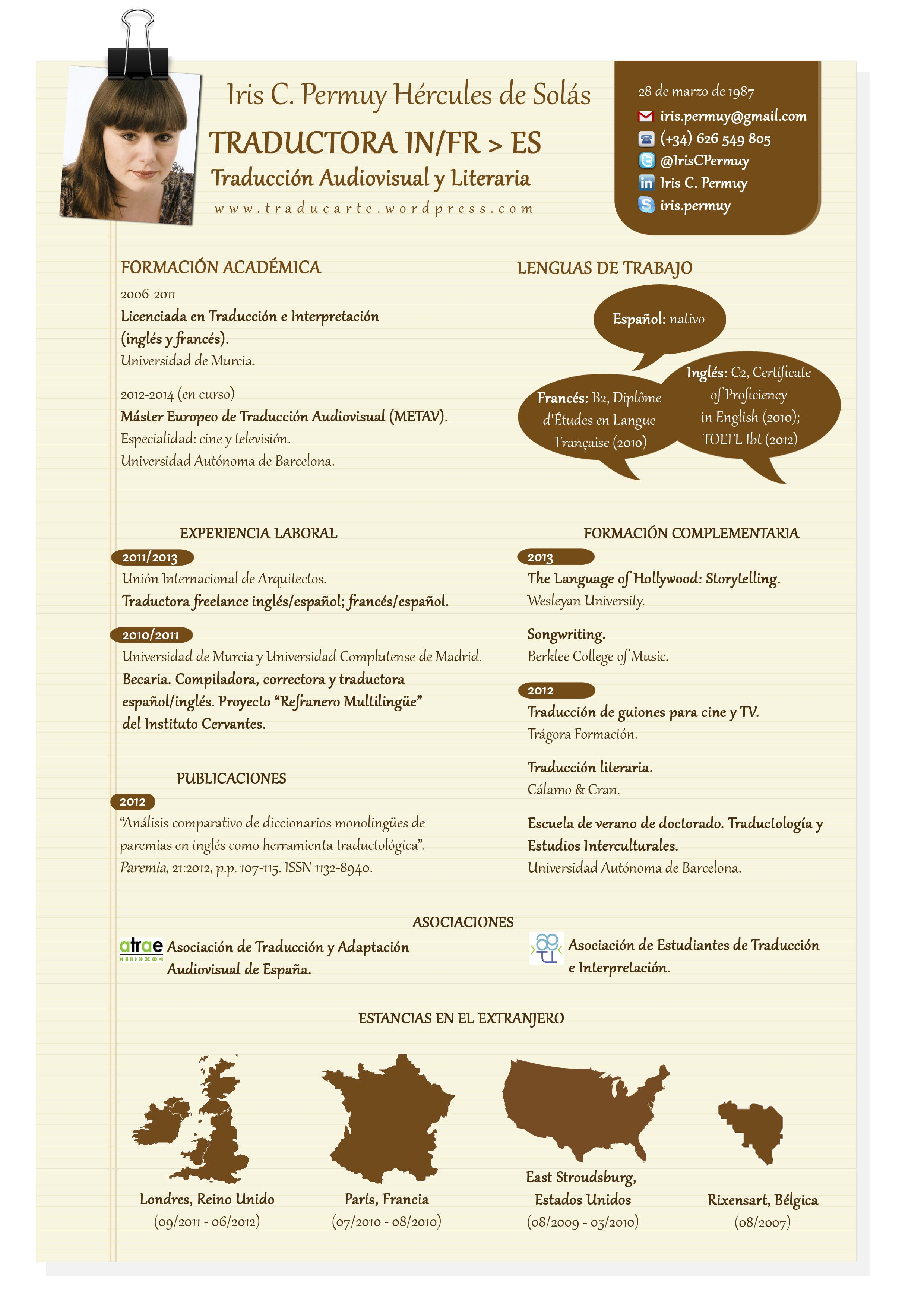 El Cv De Traductor Freelance En 500 Palabras