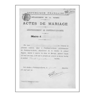 Traduction assermentée acte de mariage