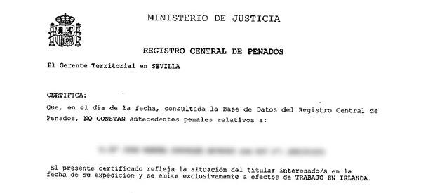 certificado de penales