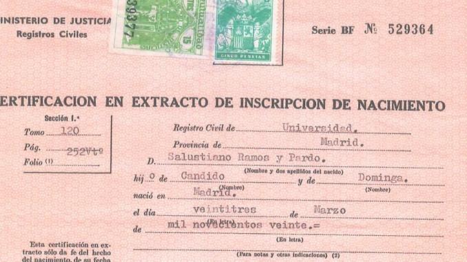traducción certificado de nacimiento