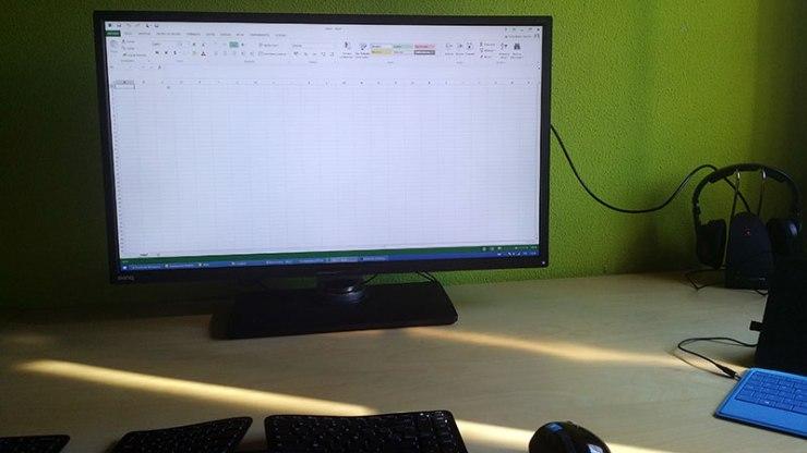 Monitor gigante Excel