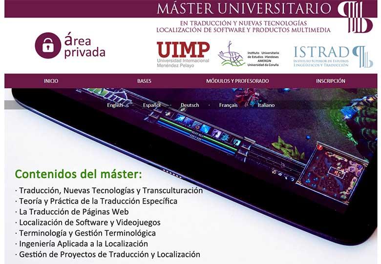 Máster en Traducción y Nuevas Tecnologías ISTRAD
