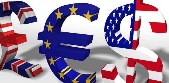 GBP, EUR y USD