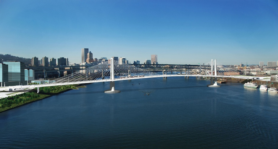 A rendering of the Tilikum Crossing, designed by San Francisco's Donald McDonald. (HNTB)
