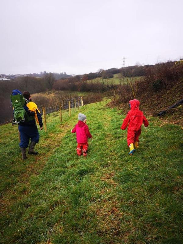 exploring at forest school