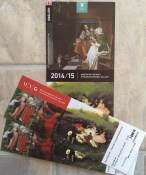Our tickets & program for the Hungarian National Gallery (10-31-14)
