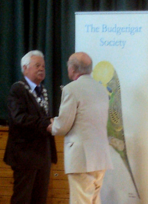 Gren Norris receiving the Silver Bird at the BS AGM