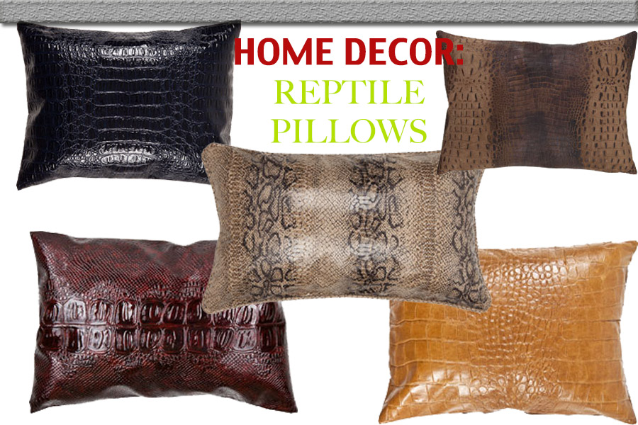 HOME DECOR REPTILE PILLOWS