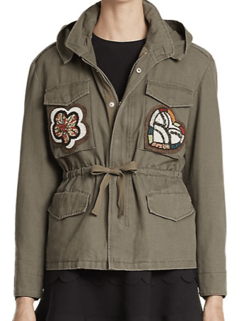 RED VALENTINO - Appliqué Military Jacket