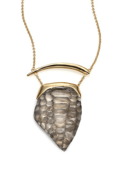 ALEXIS BITTAR - Lakana Lucite Crocodile Textured Pendant Necklace