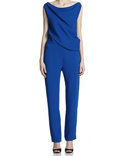 McQ Alexander McQueen Draped Sleeveless Jumpsuit