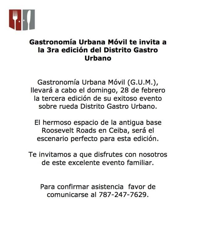Invitacion Tercer Distrito Gastro Urbano