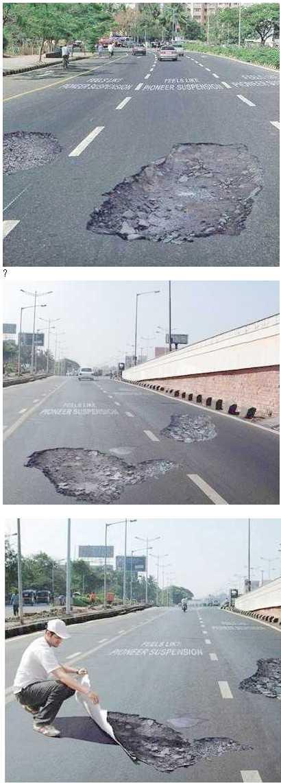 Fake Pothole