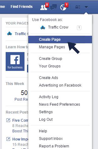 steps create on facebook - hiperativo