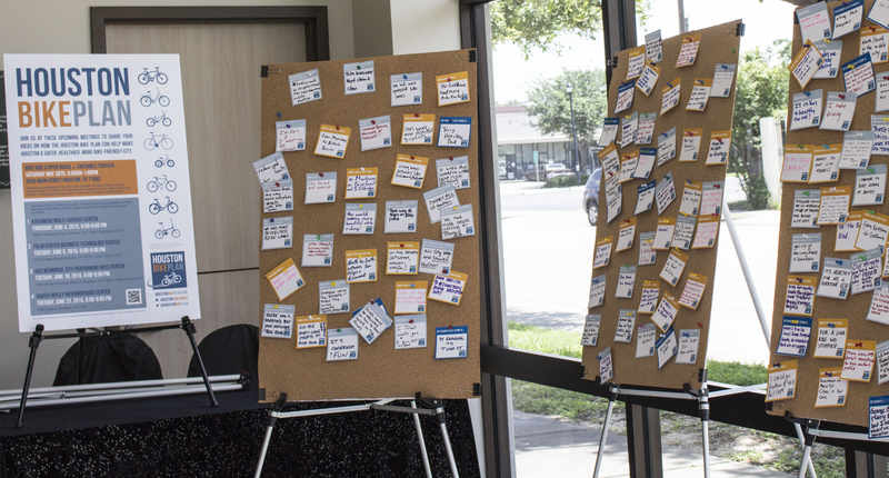 collected goals for the Houston Bike Plan