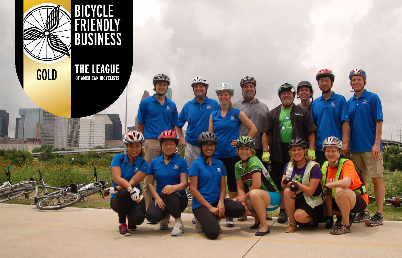The TEI team, named as a Bicycle Friendly Business by the League of American Bicyclists