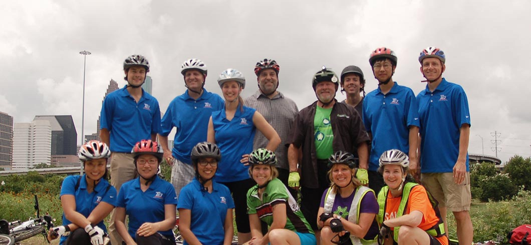 TEI team after Confident Cycling course