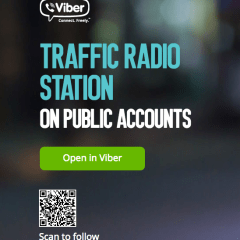 Follow us on Viber public chat