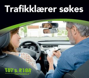 Trafikklærer og elev i bil