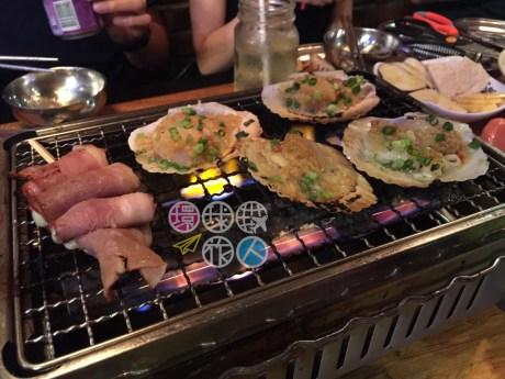 煙肉芝士卷+帆立貝
