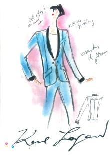 KARLBOX_Drawing Karl Lagerfeld