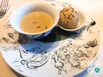 杞子腐竹露+奶黃煎堆